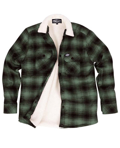 Loose Riders Men Flanelljacke - FLANNEL GREEN