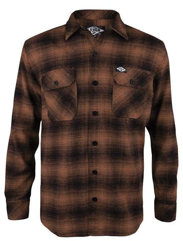 Loose Riders Men Flanellhemd - FLANNEL RUST