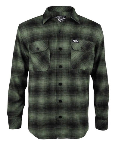 Loose Riders Men Flanellhemd - FLANNEL GREEN