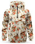 Loose Riders Fleece Anorak Ladies - FOREST ANIMALS