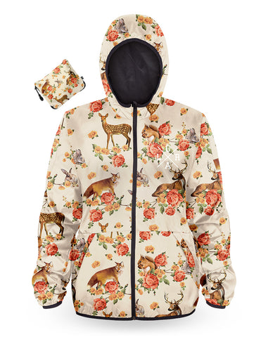 Loose Riders Windbreaker Ladies - FOREST ANIMALS