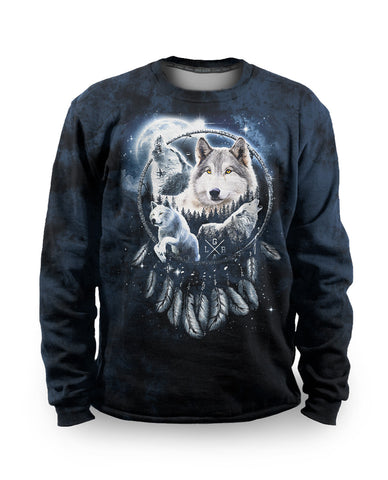 Loose Riders Fleece Pullover Men - DREAMCATCHER