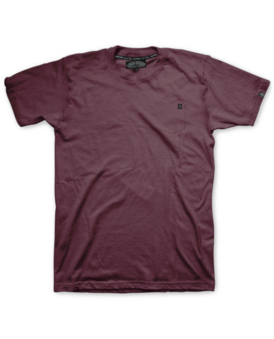 Loose Riders T-Shirt Men - Pocket Burgundy