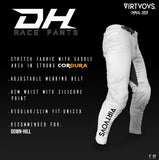 Virtuous Unisex Pants - DH Race Pants White