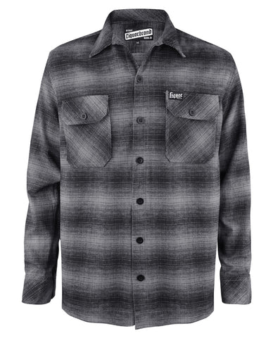 Liquor Brand Men Flanellhemd - GREY FLANNEL