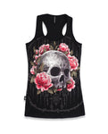 Liquor Brand Ladies Tank Top - SAK YANT SKULL