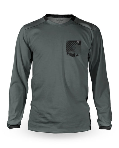 Loose Riders Jersey Long Sleeve Men - Vink Camo Slate