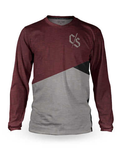 Loose Riders Jersey Langarm Men - Slant Burgundy