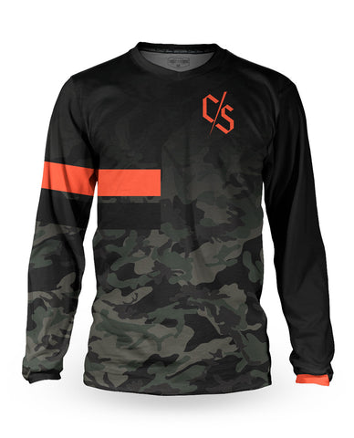 Loose Riders Jersey Langarm Men - Dipped Camo
