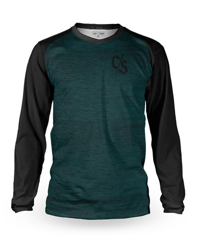 Loose Riders Jersey Langarm Men - Heather Teal
