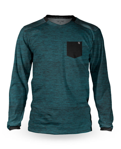 Loose Riders Jersey Langarm Men - Heather Teal Pocket