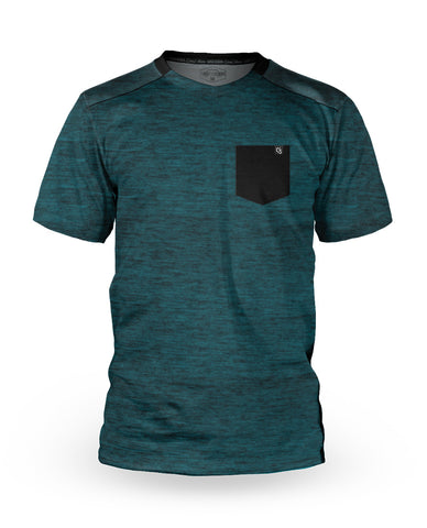 Loose Riders Jersey Kurzarm Men - Heather Teal Pocket