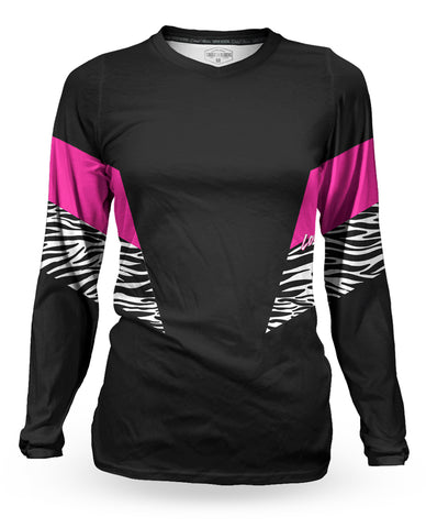 Loose Riders Ladies Jersey - Ski Patrol Black