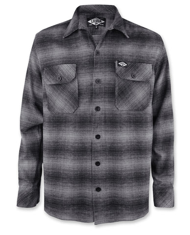Loose Riders Men Flanellhemd - GREY FLANNEL