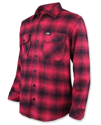 Liquor Brand Men Flanellhemd - RED FLANNEL
