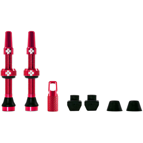 Muc-Off Tubeless Ventil-Set 44 mm - Rot