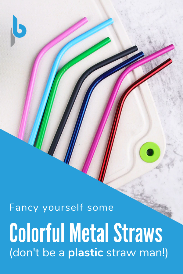 Fancy Yourself Some Colorful Metal Straws