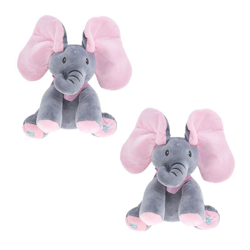 Singing Elephant Peek-a-Boo Plush Toy