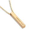 Engraved 3D Bar Necklace