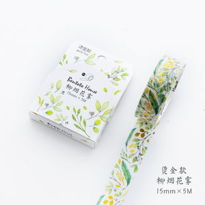 1 roll Masking Tape Starry Night Forest Flowers