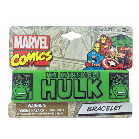 mc098-LA - Marvel Comics Hulk printed rubber cuff (Available now) , Licensed - INV, Madly Deeply Co.