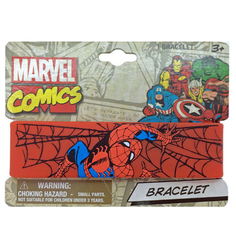 mc099-LA - Marvel Comics Spiderman printed rubber cuff (Available now) , Licensed - INV, Madly Deeply Co.