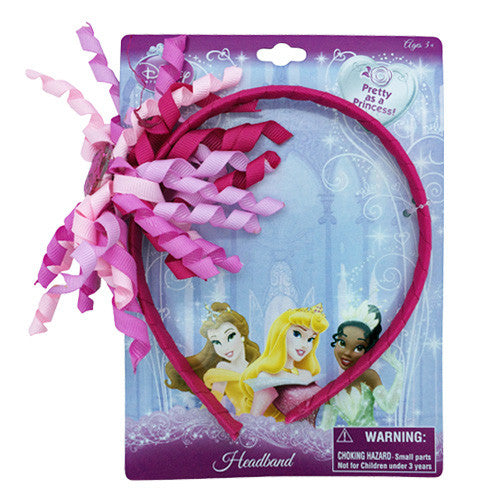 dy2192-NJ - Disney Princess 1 on a card ribbon wrapped HEADBAND w/gem  (Available Now)