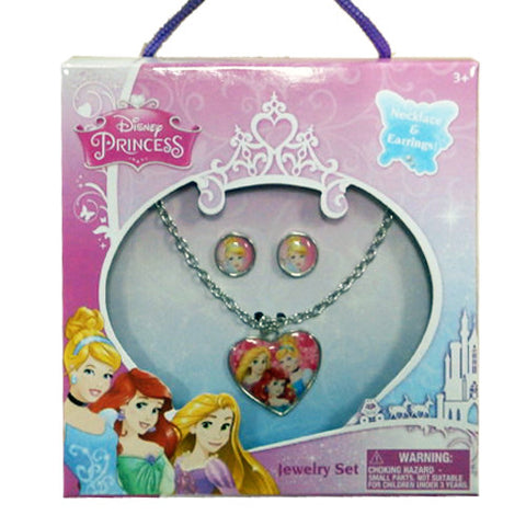 dy2996-NJ - Disney princess necklace and earring box set (Available now) , Licensed - JOA, Madly Deeply Co.