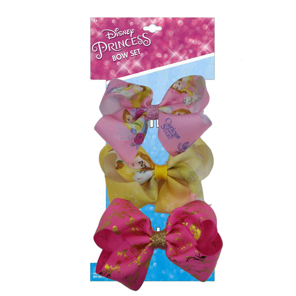 dy3876-LA - Disney Princess 3 on a card bows(Available Now)