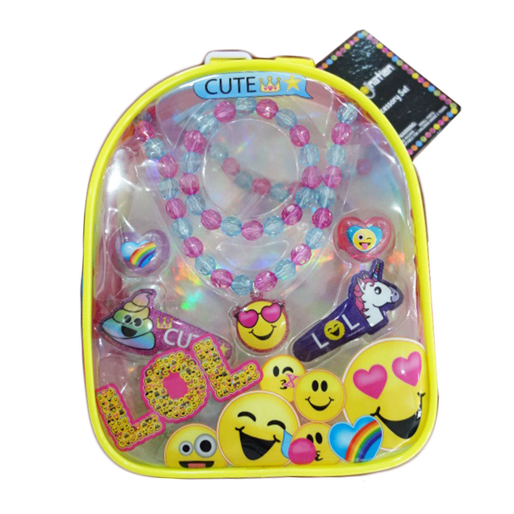em115-NJ - Emojination backpack with assorted hair accessories (Available Now)