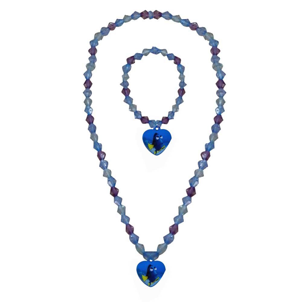 fd090a-NJ - Finding Dory beaded necklace and bracelet set (Available Now) , Licensed - INV, Madly Deeply Co. - 1