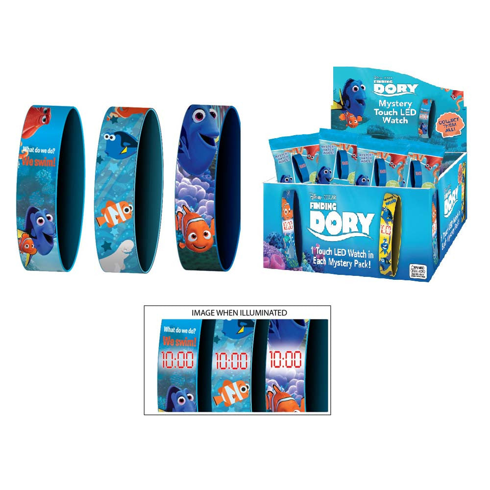 fdw011-NJ - Finding Dory 3 style 1 in foil pack LED watch (Available Now) , Licensed - INV, Madly Deeply Co. - 1