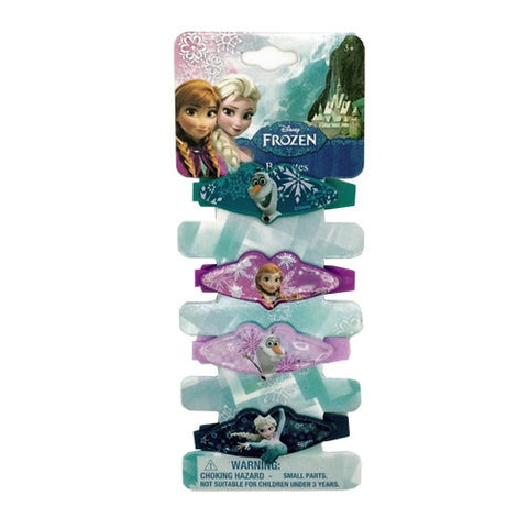 fz1045-NJ - Frozen Disney 4 on a card plastic barrettes (Available now) , Licensed - INV, Madly Deeply Co.