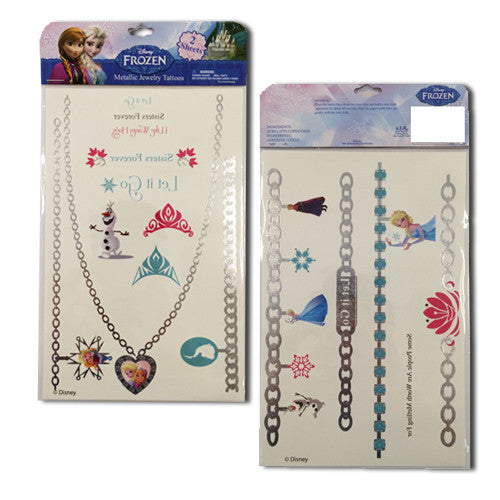 fz357-LA - Frozen 2 sheets metallic tattoo JEWELRY (Available Now)