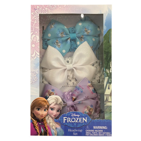 fz469-NJ - Frozen 3pcs Frozen headwrap with grosgrain bow (Available now) , Licensed - INV, Madly Deeply Co. - 1