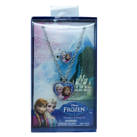 fz472-NJ Frozen necklace and ring set (Available Now) , Licensed - INV, Madly Deeply Co. - 1