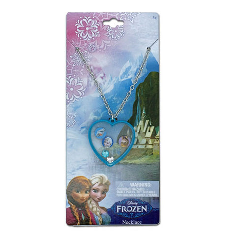 fz516-NJ - Frozen Disney 1 on a card shaker necklace  (Available now) , Licensed - INV, Madly Deeply Co. - 1