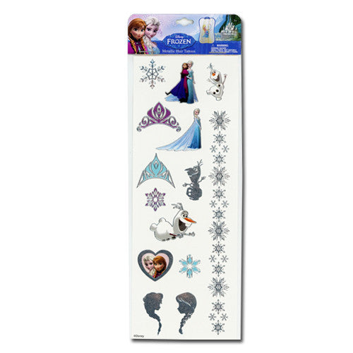 fz519-NJ - Frozen metallic hair tattoo jewelry (Available now) , Licensed - INV, Madly Deeply Co. - 1