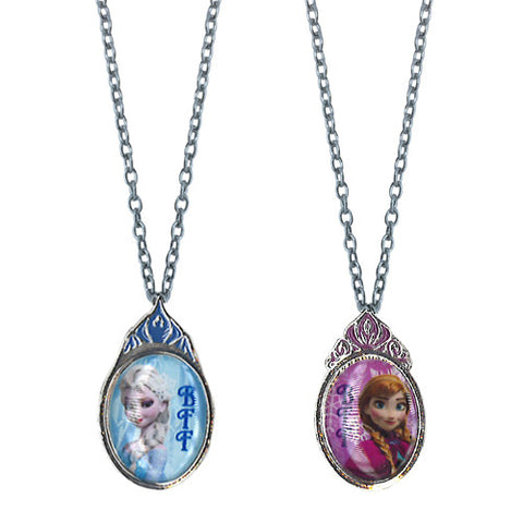 fz672-NJ - Frozen Disney 2 on a card bff necklace (Available Now) , Licensed - INV, Madly Deeply Co.