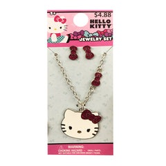 hk1841-LA - Hello Kitty necklace & earrings set (Available Now)