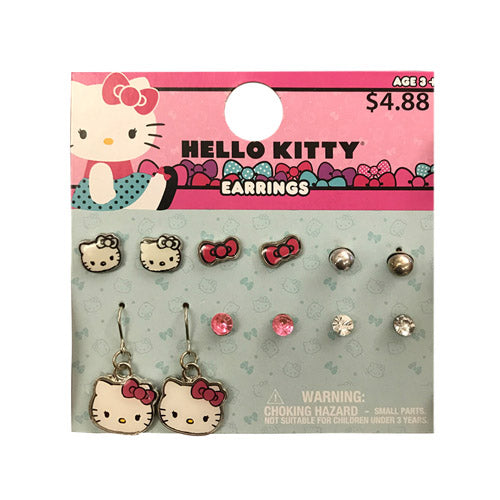 hk1842-LA - Hello Kitty 6 pairs earrings (Available Now)