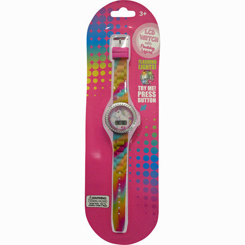 hw066-NJ - HER UNICORN flashing lights silicon strap watch (Available Now)