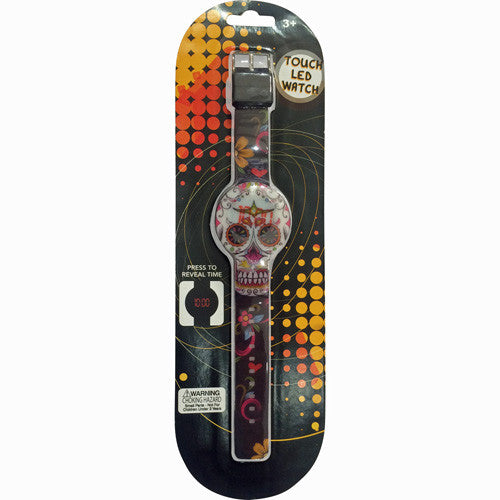 hw181-NJ - HER Black Sugar SKULL Touch LED watch (Available Now)
