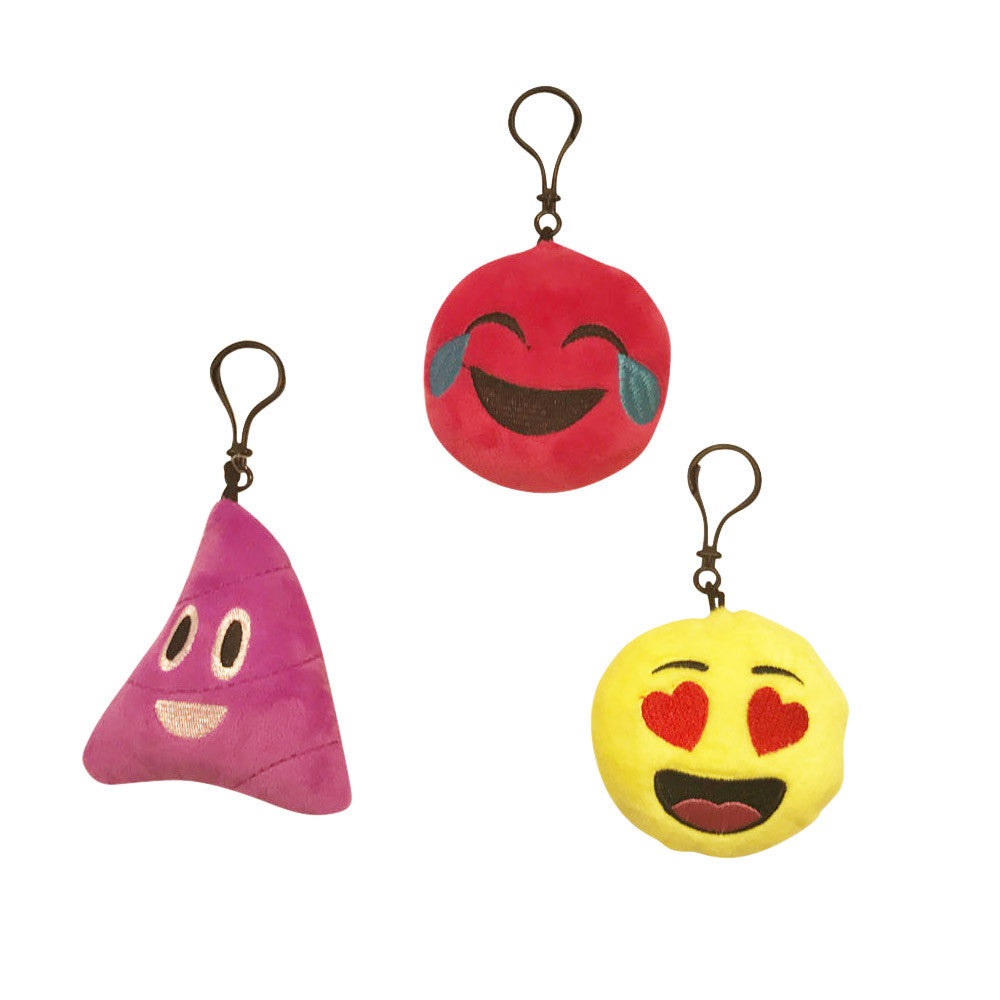 lh2602-NJ - Luv Her emoji plush keychain - 3 styles (Available Now)
