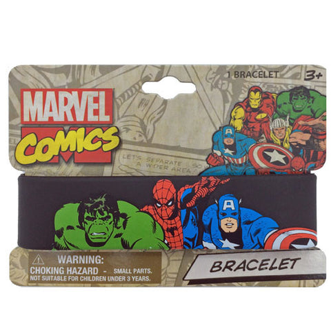 mc114-LA - Marvel Comics printed rubber cuff (Available now) , Licensed - INV, Madly Deeply Co.