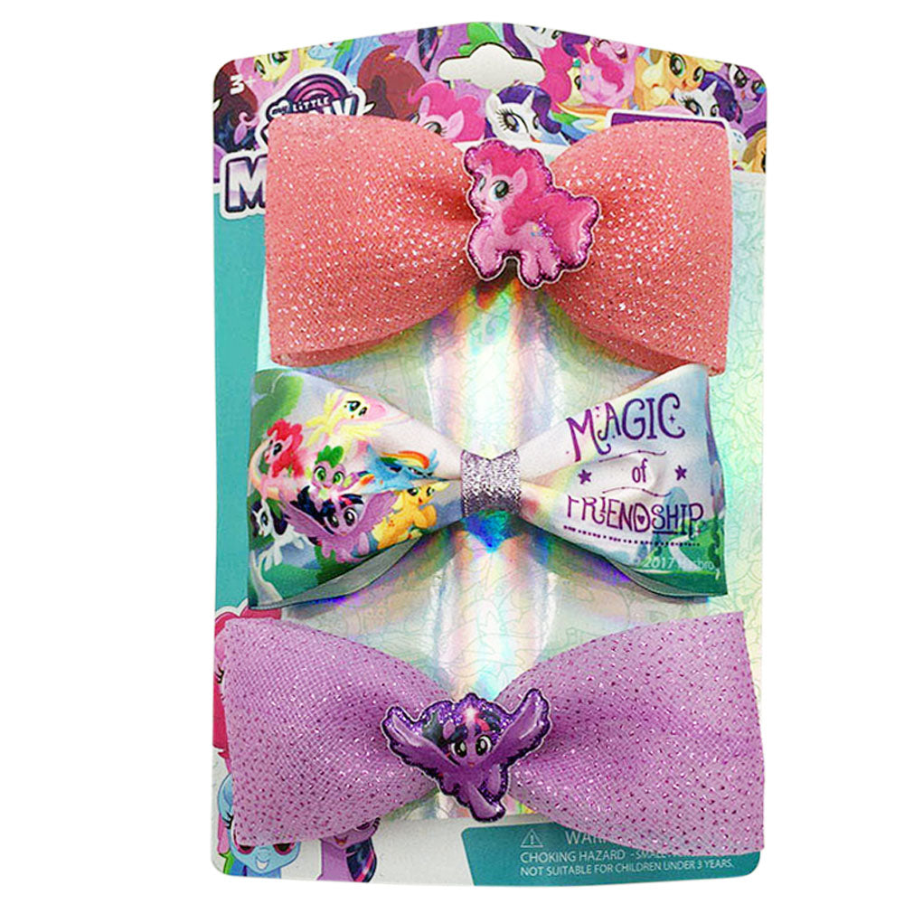 ml1222-NJ - My Little Pony 3 on a card bows(Available Now)