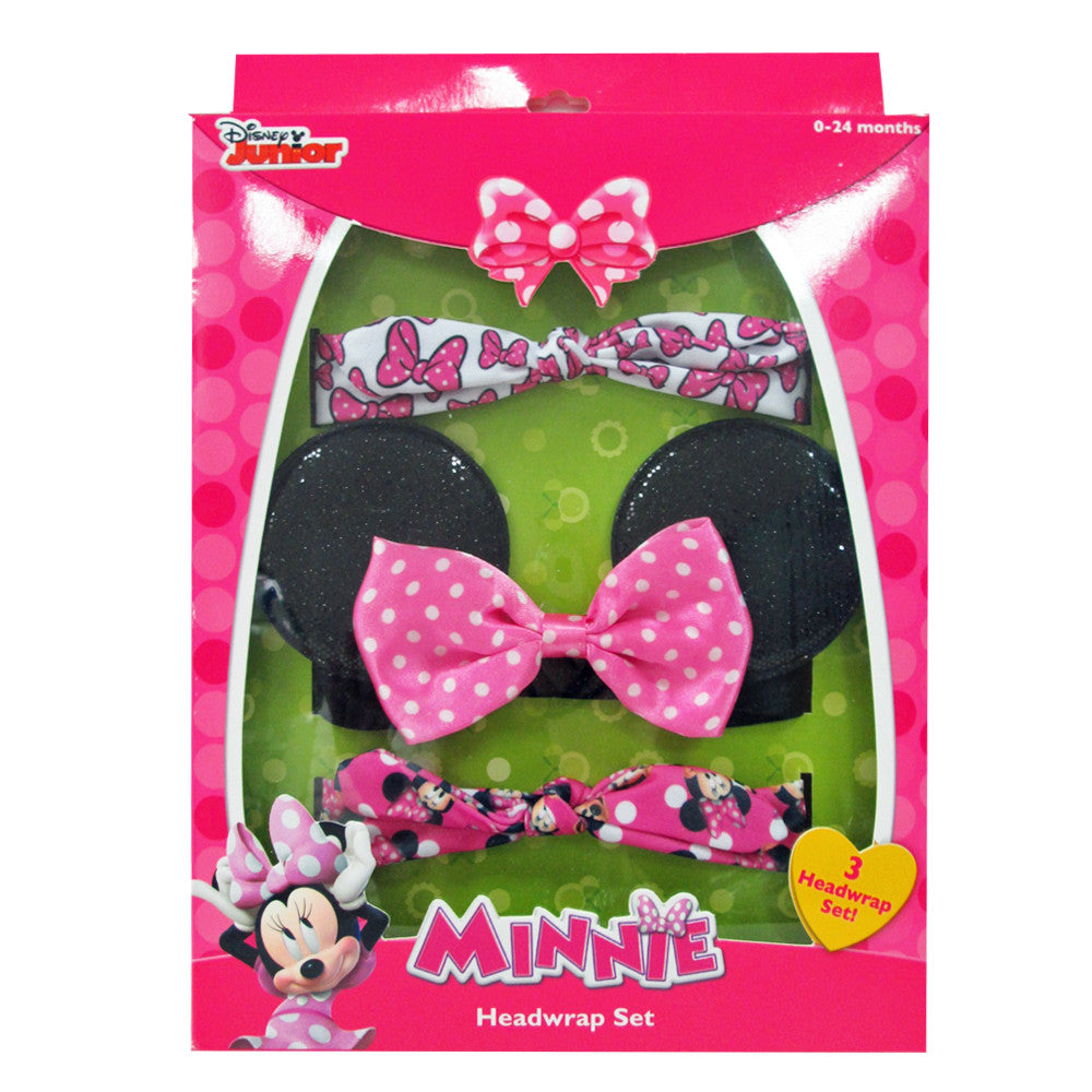 mm1328-NJ - Minnie Mouse 3pcs assorted head wraps in a box (Available now) , Licensed - INV, Madly Deeply Co. - 1