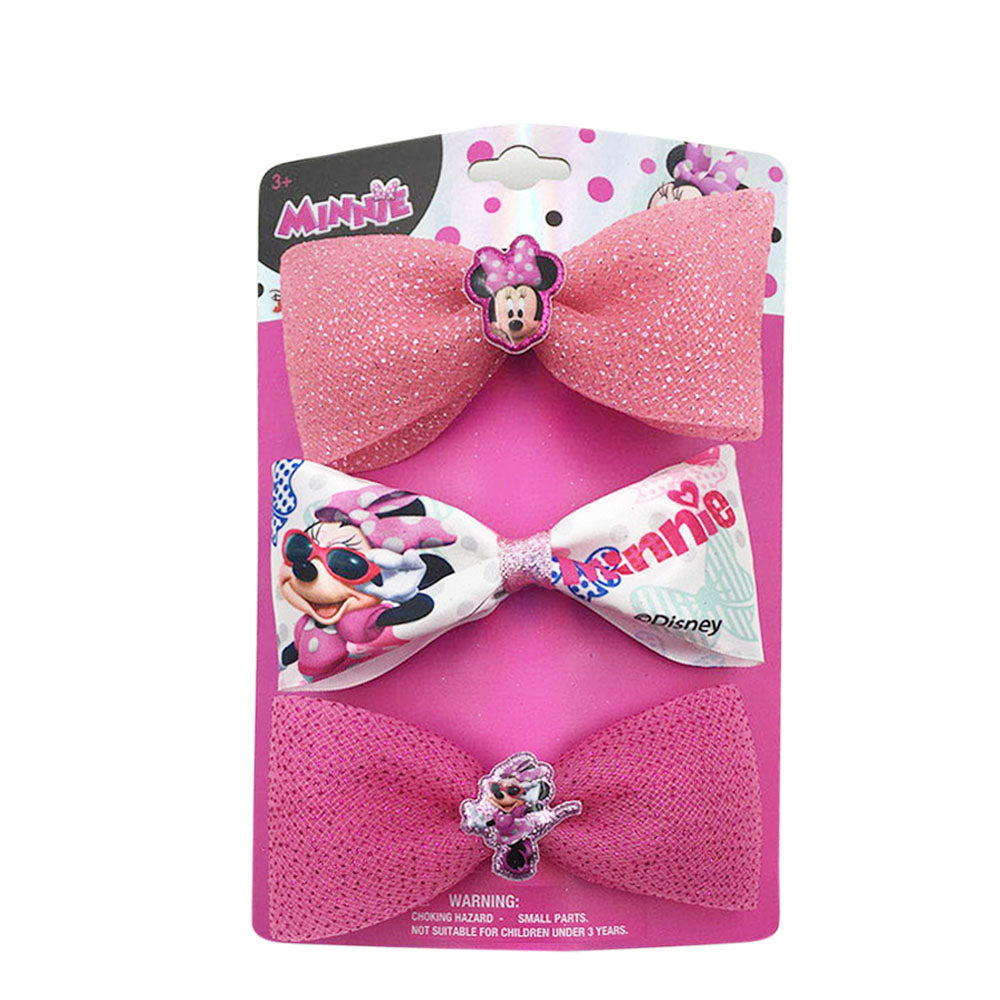 mm1649-NJ - Minnie Mouse 3 on a card bows(Available Now)