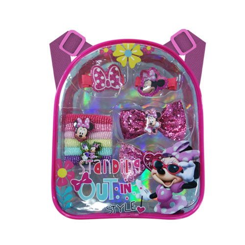 mm1652-NJ - Minnie Mouse backpack with assorted HAIR ACCESSORIES (Available Now)