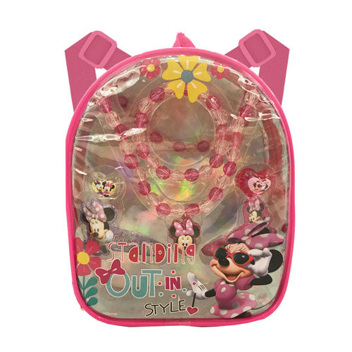 mm1654-NJ - Minnie Mouse backpack with assorted HAIR ACCESSORIES (Available Now)